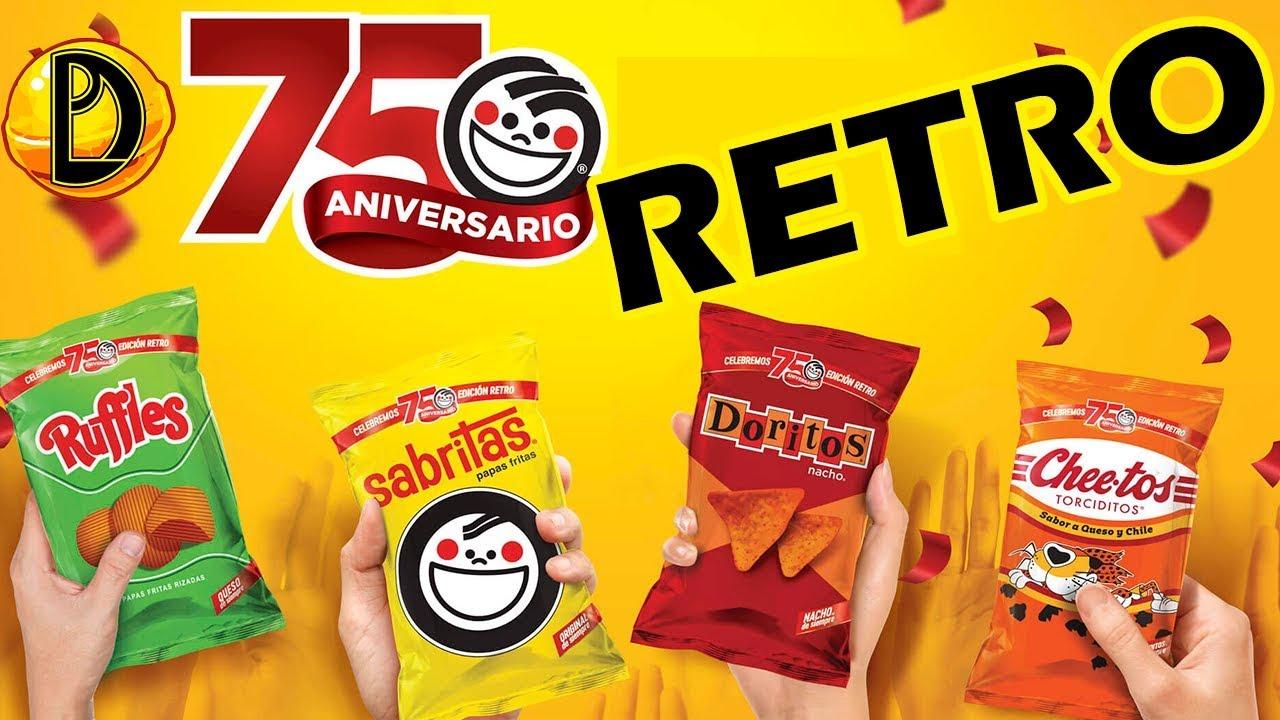 Sabritas celebra su 75 aniversario con sus presentaciones retro