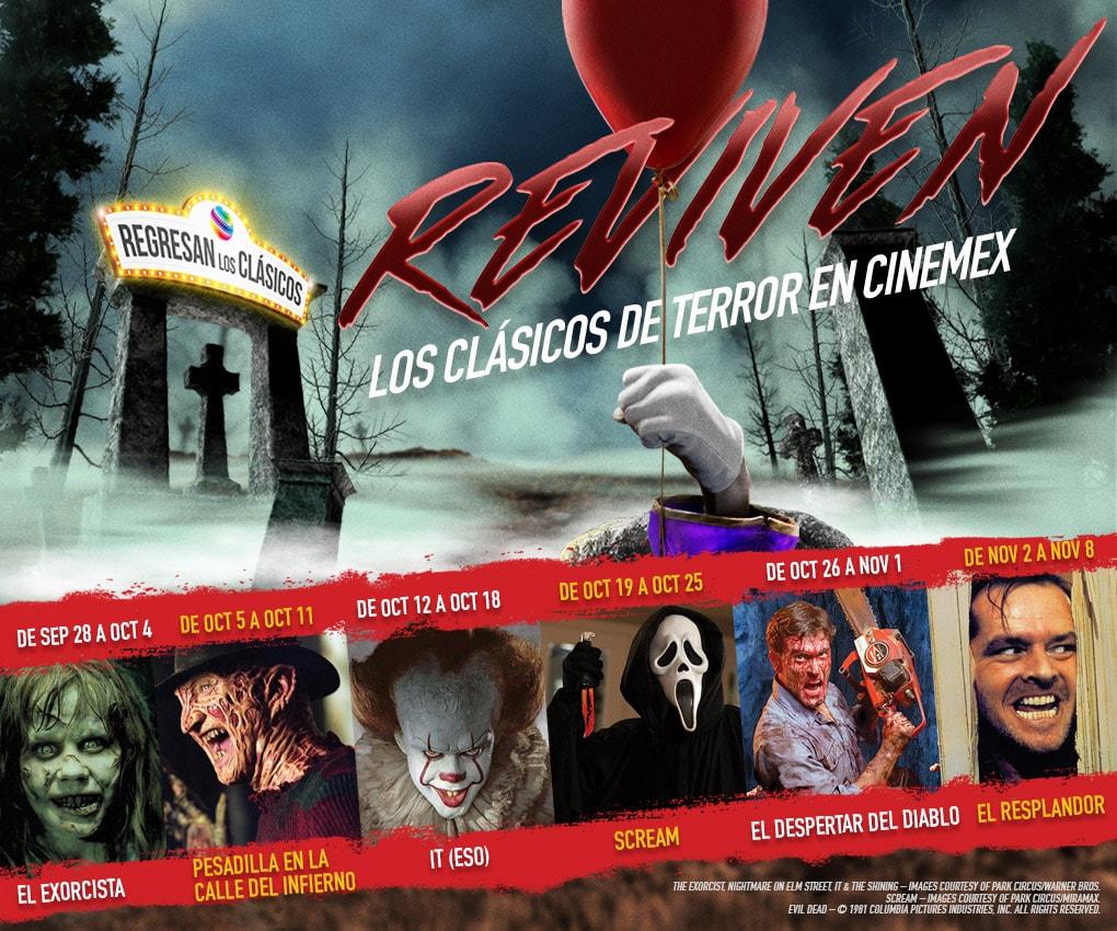 Disfruta de varios clásicos de terror en Cinemex