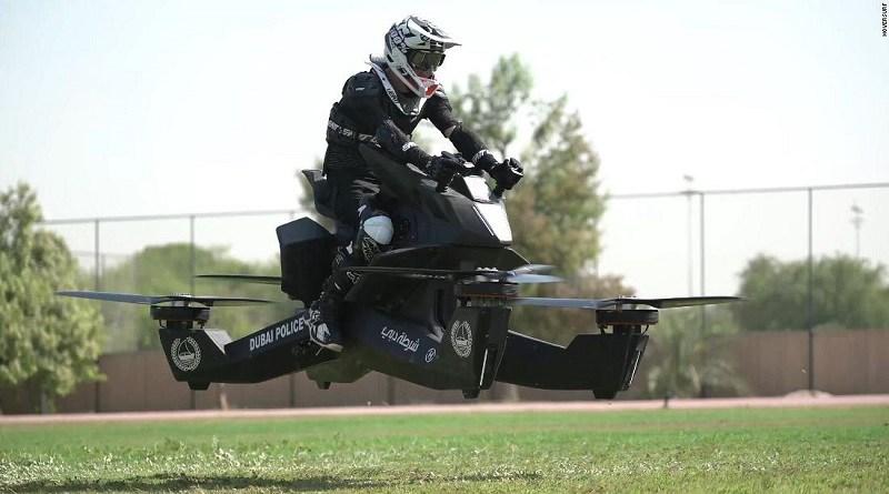Hoverbike S3: La moto voladora que prueba la policía de Dubai