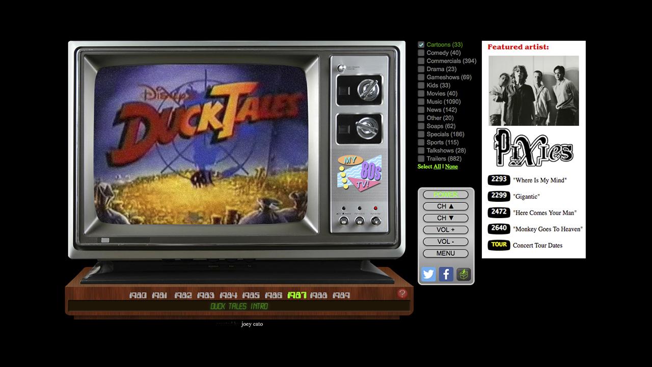 La televisión de los años 70, 80 y 90 directamente en tu navegador