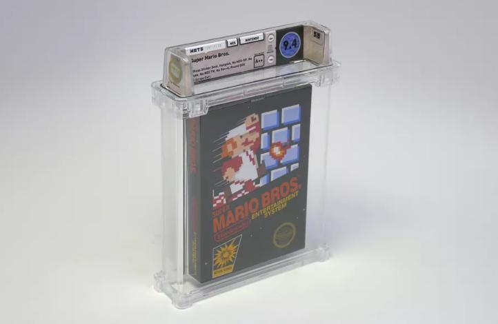 Una rara copia de Super Mario Bros. fue subastada a más de $100 mil dólares