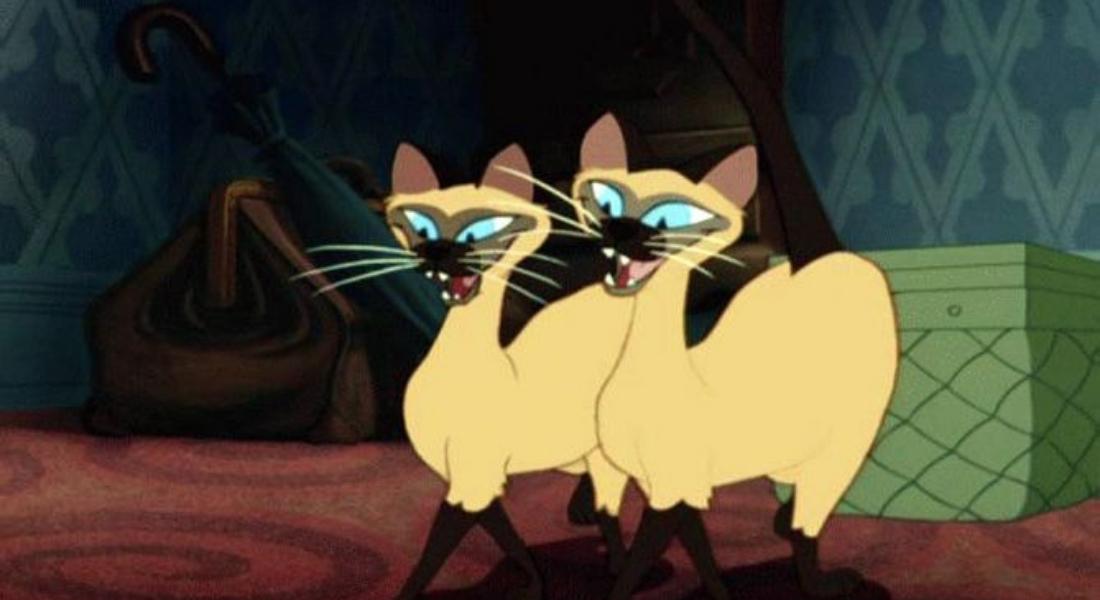 Los gatos siameses ya no estarán en La dama y el vagabundo