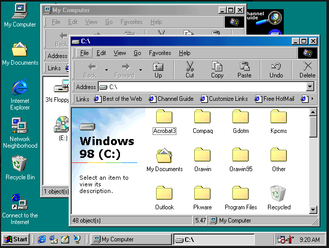 Te acuerdas de estas maravillas de Windows 98 2